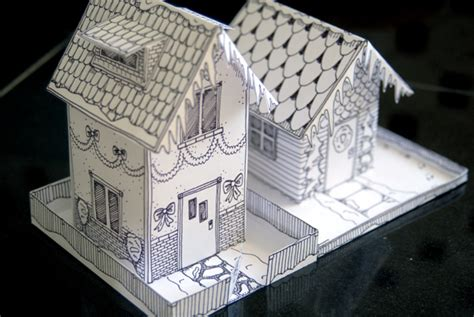 Paper Folding House - winter time paper house freebie twelve22