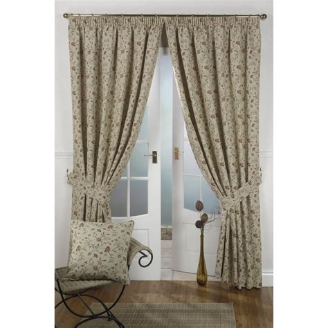 natural floral curtains hton natural floral tapestry ready made curtains