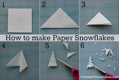 How To Make 6 Pointed Paper Snowflakes - how to make paper snowflakes the resources of islamic