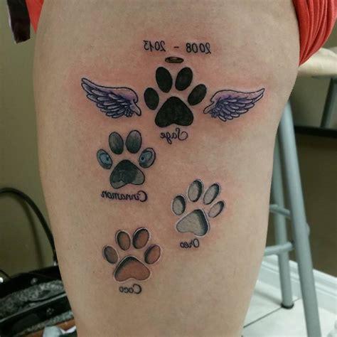 cat paw prints tattoo cat paw tracks tattoo sample fresh