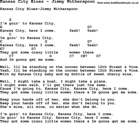 blue ukulele song lyrics song kansas city blues by jimmy witherspoon song lyric