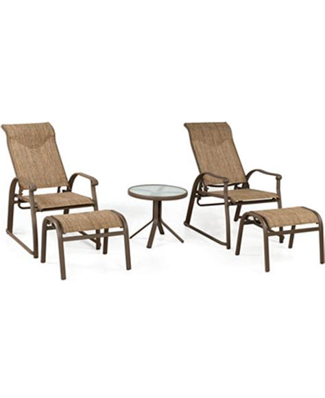 adjustable patio chair and ottoman oasis outdoor 5 lounge set 2 adjustable chairs 2