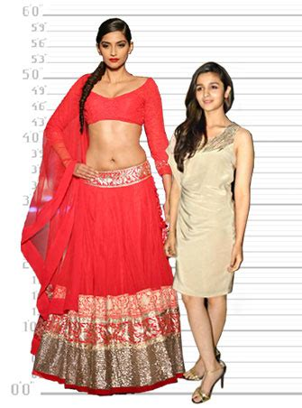 hollywood actress height in cm sonam alia how tall are these actresses rediff movies