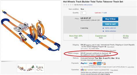 ebay import charges ebay global shipping program