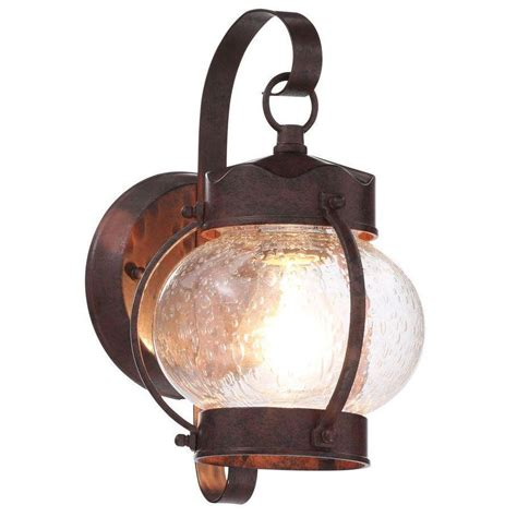 Old Bronze Outdoor Wall Mount Lantern Exterior Porch Patio Outdoor Patio Light Fixtures