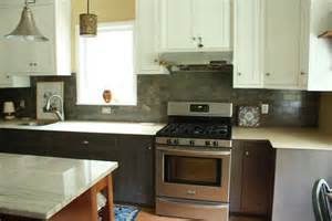 Gray Bottom Cabinets White Top Cabinets by Let S The Renovating An House By A