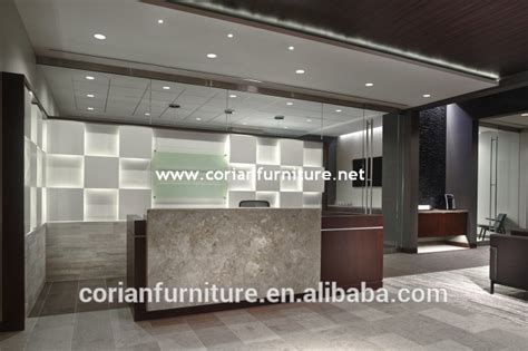 Contract Furniture Modern Office Reception Desk With Back