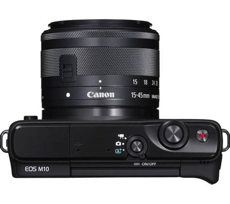 Cashback Canon Eos M10 M 10 15 45 Kit Datascript buy canon eos m10 mirrorless with 15 45 mm f 3 5 6 3 lens black free delivery currys