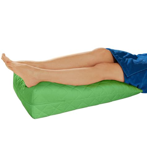 pillow to elevate legs in bed lime orthopaedic contour leg raise pillow foot rest cotton