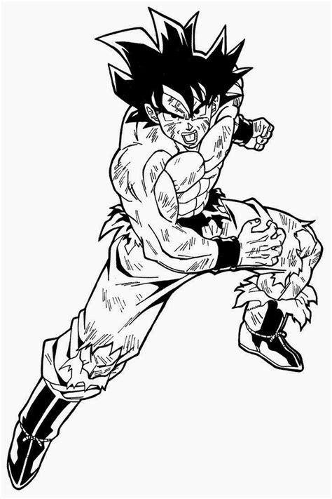 Imagenes De Goku Normal Para Colorear | dibujo de goku adulto normal para pintar y dibujar