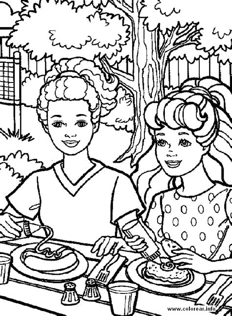 barbie come barbie PRINTABLE COLORING PAGES FOR KIDS.