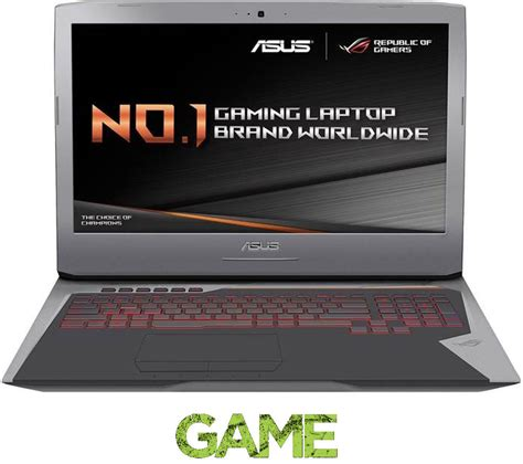 17 3 Asus Republic Of Gamers I7 Gaming Laptop asus republic of gamers g752vl 17 3 quot gaming laptop metallic silver deals pc world