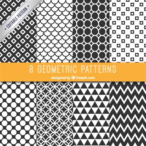 pattern collection download collection of black and white patterns vector free download