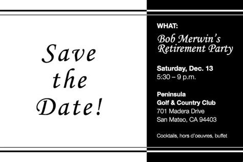 Save The Date Retirement Celebration Pictures To Pin On Retirement Save The Date Template