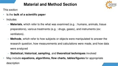 Publication Materials And Methods Section