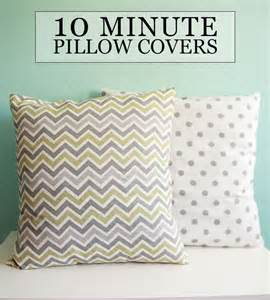 diy tutorial sew 10 minute throw pillow covers sewing