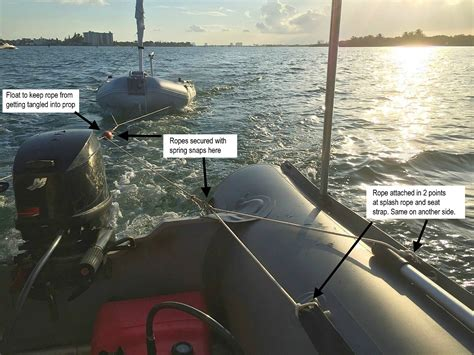 zodiac tow boat how to tow inflatable boats behind yacht or sailboat
