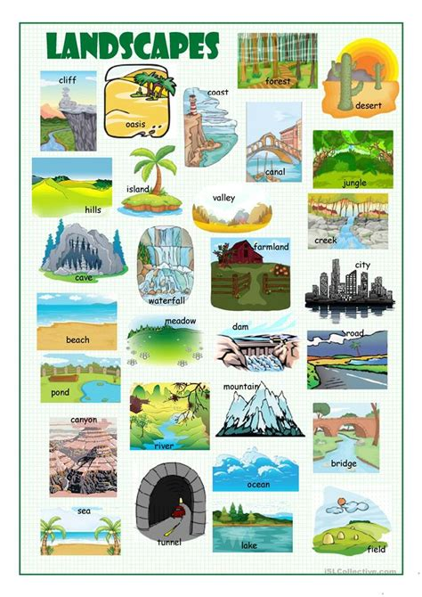 doodle free dictionary landscapes picture dictionary worksheet free esl