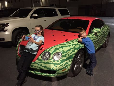 bentley watermelon my kids found the watermelon bentley only logical thing