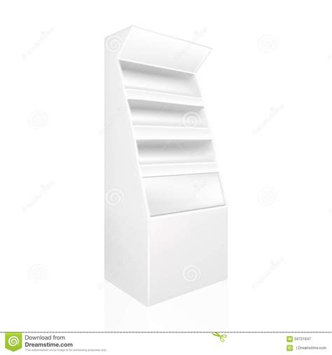point of sale display template white gray pos poi stock vector image 59721647