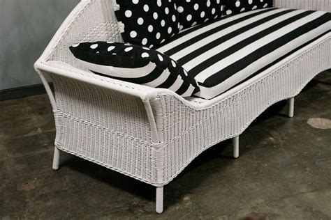 Wicker Sofa Beds Deco Wicker Sofa Day Bed At 1stdibs