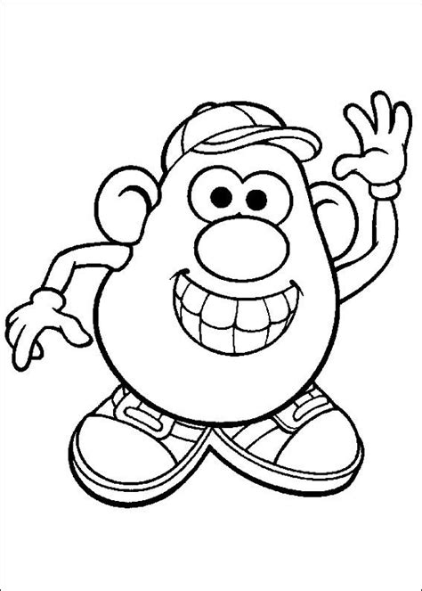 kids n fun com coloring page mr potato head mr potato head