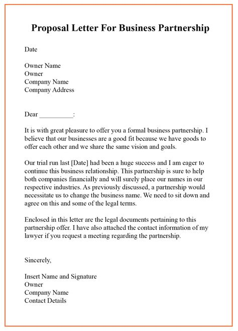 proposal letter business partnership