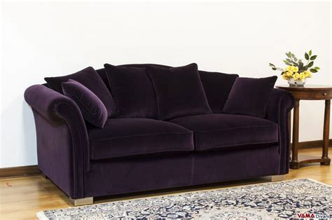 dark purple couch fabric removable cover sofa characterised by a classic