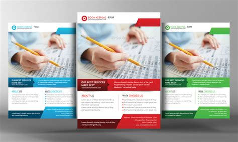 Book Keeping Accounting Service Flye Flyer Templates On Creative Market Free Accounting Flyers Templates