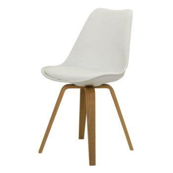 chaise blanche pieds en multiplis de hetre plaque chene huile naturel chaises
