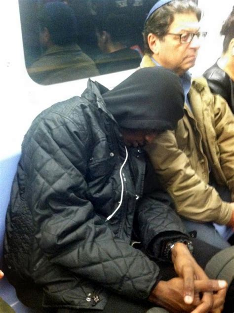 tv show a jew and black man check out this subway sleeping beauty ny daily news