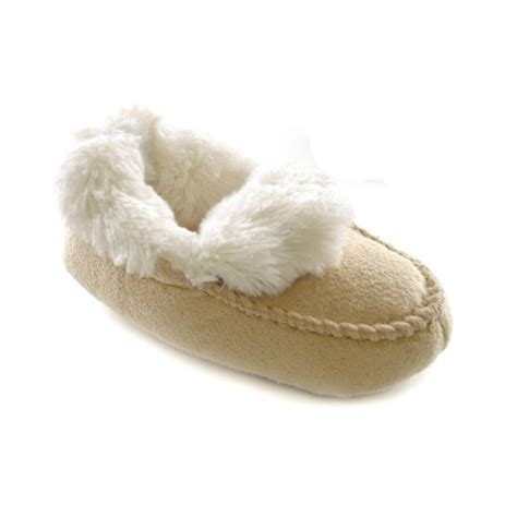 fur lined slippers childrens toddlers faux fur lined moccasin slippers