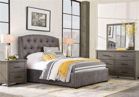 urban plains gray  pc queen upholstered bedroom queen bedroom sets colors