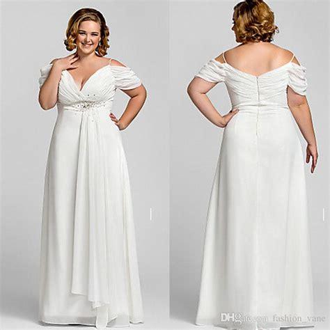 Plus Size Modest Wedding Dresses by Discount 2017 Modest Shoulder Plus Size Wedding