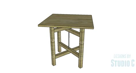 diy table with cross legs an easy to build industrial rustic end table designs by