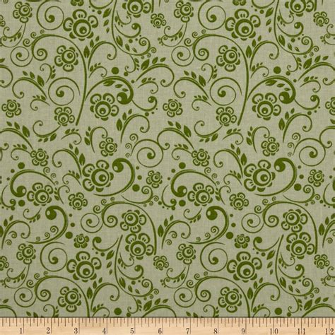 Quilting Fabric Cheap by 108 Quot Wide Quilt Back Floral Swirl Green Discount