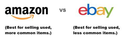 ebay vs amazon amazon vs ebay where should i sell my stuff money nation