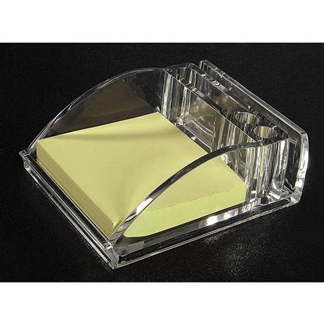 Clear Acrylic Desk Accessories Memo Pad Organizer Clear Desk Accessories