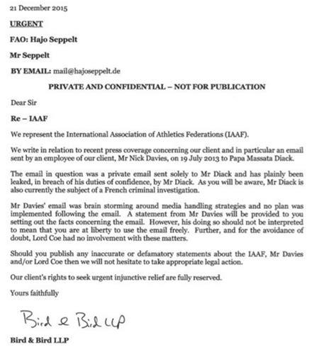 Demand Letter Libel defamation uo matters