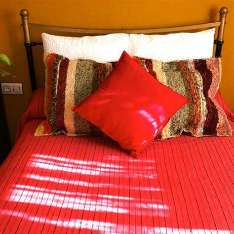 Handmade Throws - handmade throw and cushion 2 andalucian rugs