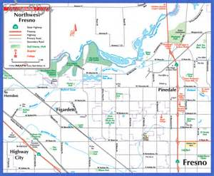 fresno map map travel vacations