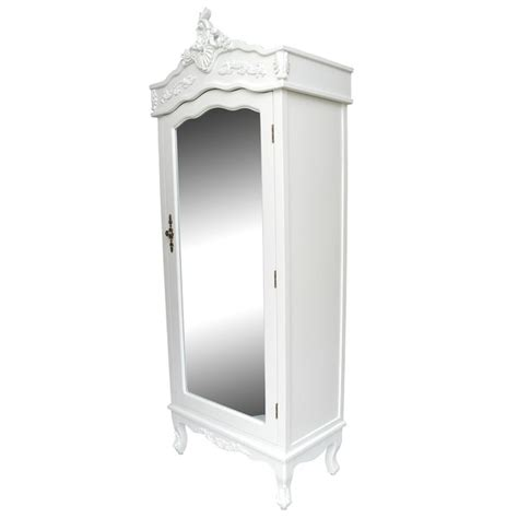 white armoire with mirrored door french white single door armoire wardrobe with mirrored