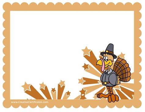 templates for thanksgiving free thanksgiving border templates customizable printable
