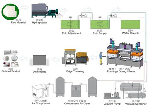 disposable paper pulp moulding machinery tableware making