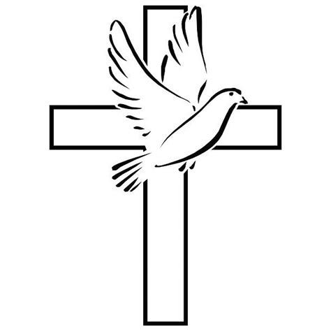 cross with dove clipart best