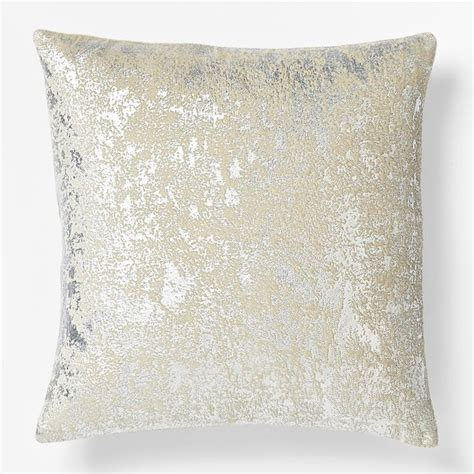 Metallic Decorative Pillows by Metallic Texture Pillow Cover Silver