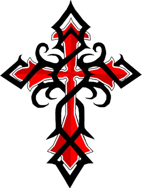 red and black tribal tattoo black and ink tribal cross