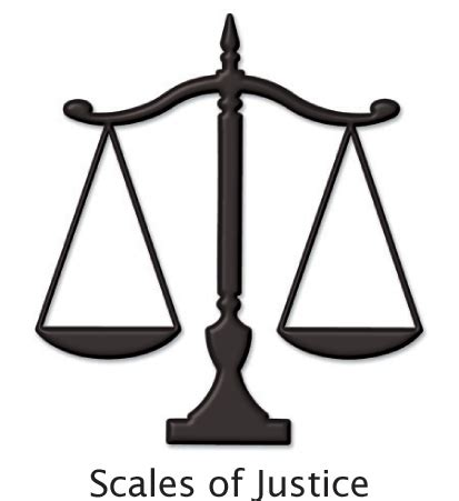 Scales of Justice 3d Brusshed Aluminum Cast Metal Symbol