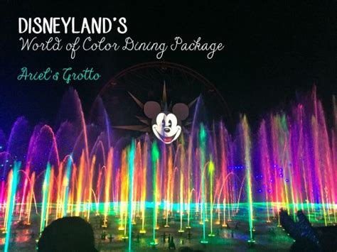 world of color dining disneyland s world of color dining package hubpages