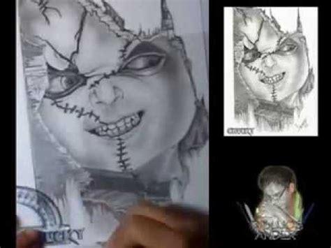 imagenes de halloween para dibujar a lapiz dibujo a l 193 piz de chucky youtube